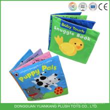 Libro de tela educativo de bebé de juguete suave