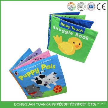 Livro de pano educacional de bebê de brinquedo macio