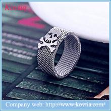 Мягкая сетка O кольцо для мужчин титана стали ювелирные кольца черепа кольцо оптом