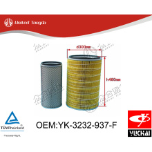 YK-3232-937-F Original Yuchai engine air filter for Chinese truck