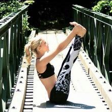 Printed White Black Yoga Work out Pants Leggings (3055)
