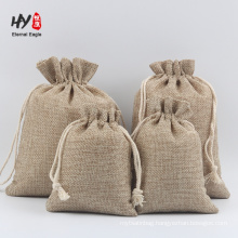 high quality thick durable linen drawstring pouch