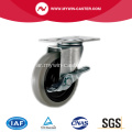2 '' Swivel TPR Light Duty Industrial Caster مع فرامل جانبية