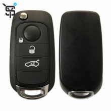 Factory price black car key cloner 3 button smart car remote key for Fiat with Megamos 88 AES chip 433 MHZ YS100161