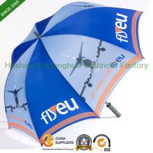 Full Printing Automatic Fiberglass Golf Umbrella with Customized Logo (GOL-0027FAC)