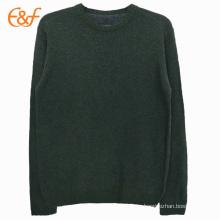 Suéter liso para hombre de cuello redondo y punto jersey
