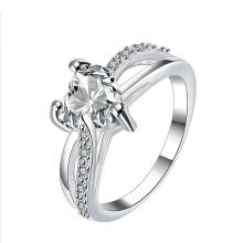 Wholesales 925 Silver Heart Ring Jewelry Purple CZ