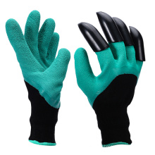 hot selling ABS claw protective gloves ripping dig plant rake finger claw garden gloves