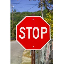 Aluminium reflektierende Warnung Stop Verkehrszeichen