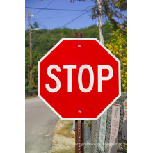 Post Mounted Traffic Aluminio Refelective Stop Safety Custom Street Sign
