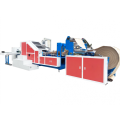 Paper bag machine with twisted rope handle