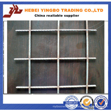 Solid Reinforcing Galvanized Steel Construction Welded Wire Mesh