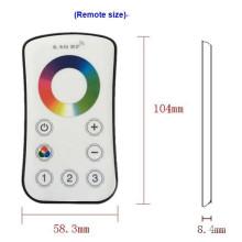 Controle remoto sem fio do toque de Dimmable do controlador do diodo emissor de luz do RGB da zona 2.4G
