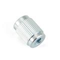Round Nut Steel Iron Knurl Zinc-plated Turned Lathed