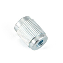 Round Nut Steel Iron Knurl Zinc-plated Turned Lathed