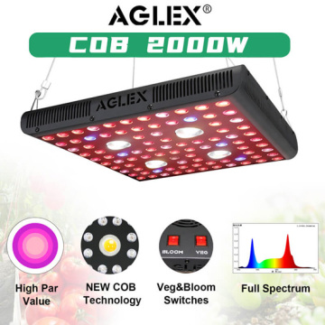 Lámparas de planta de espectro ajustable de 2000W LED Grow Light