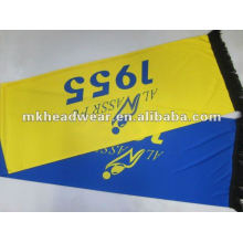Wide football scarf with printing logo on each sides