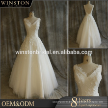 supply all kinds of free shipping high v neck mamufacture wedding dress