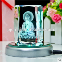 Customized Crystal Cube Religious With 3D Laser Engraved Logo