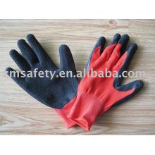 Nylon Latex Coated Handschuh - Crinkle Oberfläche
