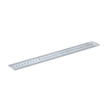 Stainless Steel Ruler Polished and Red Decimal