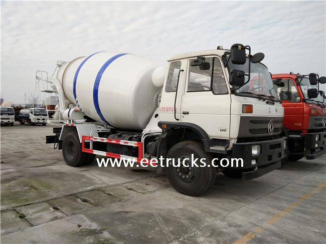 4 CBM Concrete Mixer Trucks