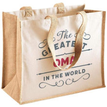 High quality new design recycle organic jute tote shopping bag