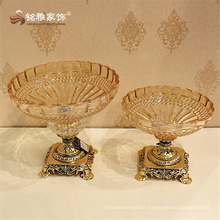 Deluxe clear glass decorative useful candy bowl fruit tray