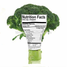 Custom Colorful Organic Food Nutrition Fact Packing Label Sticker
