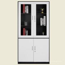 Swing glass door display metal filing cabinet