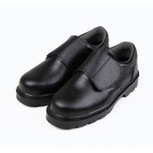 Couro genuíno aço preto toe segurança homens sapatos