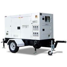 60Hz Single Phase 220V Mobile Trailer Silent Mini 11kw 14kva Diesel Generator Powered By Yangdong Engine YD385D Cheap Price