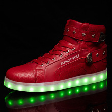 Shoelace Plus Velcro Led Shoes With USB Charger