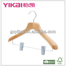 wooden coat hanger with FSC,BSCI,BRC certificated