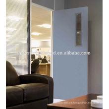 Venta caliente blanco de madera solo diseño de la puerta principal