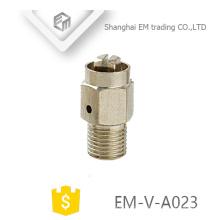 EM-V-A023 Manual latão niquelado radiador válvula de liberação de ar de encaixe