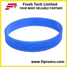 Pulseira de silicone de esportes profissional com logotipo em relevo
