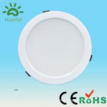 Shenzhen huerler nuevo producto blanco delgado 30led agujero de 6 pulgadas 150mm 100-240v 110v 220v 230v smd5730 15w ronda led downlight