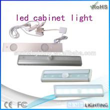 Neue Design 3000k Schrank Lampen batteriebetriebene LED-Schmuck Licht CE ROHS zugelassen Schränke Sensor Licht