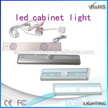 new design 3000k cabinet lamps battery powered led jewelry light CE ROHS approved cabinets sensor light