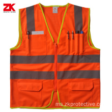 Hi-vis vest reflective yellow