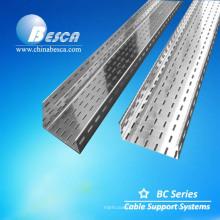 Material de aço e bandeja de cabos de escada tipo calha ventilada ou perfurada