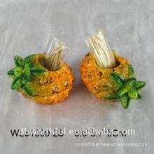 Único projeto cerâmico toothpick titular em forma de abacaxi