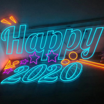 2020 NEUES JAHR NEON LIGHT