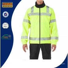 Venta al por mayor Hivis impermeable de seguridad reflectante de seguridad Softshell chaqueta