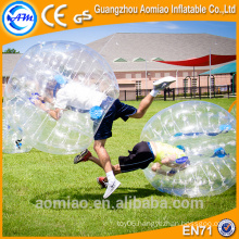 Top quality crazy game PVC/TPU human plastic ball,body bubble ball for football