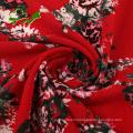130gsm fancy printed crepe poly chiffon fabric dress