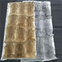 baby rabbit fur skin throw blanket coyote Rabbit Fur plate