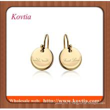 Bijoux en or en ligne minces boucles d'oreille à boucles