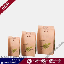 New Design Gift Paper Shopping Bag Craft Brown Custom Kraft Paper Bag Bolsas De Papel Without Handle